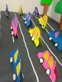 trafik etkinligimiz :) 3d Paper Crafts, Diy And Crafts, Crafts For Kids, Arts And Crafts, Transportation Activities, Craft Work, Preschool Activities, Art For Kids, Projects To Try