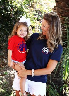 7.99 Patriot Tee Sale! Monogram Shirts, Vinyl Shirts, Personalized Shirts, Framed Initials, Cricut Explore Projects, Patriotic Shirts, Red Shirt, Silhouette Cameo, My Girl