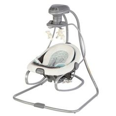 Graco DuetSoothe Winslet Infant Swing and Rocker: this is genius. Swing and bouncer in one.