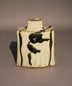 A Shoji Hamada (Japanese, 1894-1978), stoneware bottle vase, height: 10 in. (25 cm)