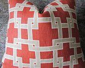 Designer Pillow Cover - 18 x 18 - Thom Filicia Citysquare Wild Rose. $35.00, via Etsy.