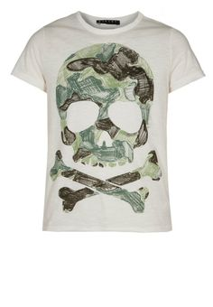 Sisley - T-shirt print - Wit