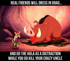 Real friends... And you can be a big pig too, huah!
