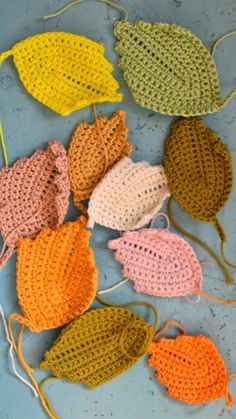 ingthings: Crochet leaves and a storm ... ﻬஐCQஐﻬ #crochet #spring #crochetflowers #flowers