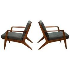 Pair of Danish Ib Kofod Larsen Lounge Chairs