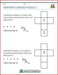 Math Puzzles 2nd grade image