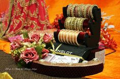 Trousseau Packing at Wrap A Smile by Shreya Ahuja ! https://www.facebook.com/WrapASmile #Indian #wedding # Trousseau #Gifting #Velvet #Brocade #bangles # Handwear #pretty #Bling #chic #Classy