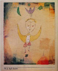 Paul Klee, Descending Angel, 1918. watercolour