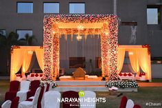 Meritorious #reception #decoration✨at #NarayaniHeights lawn area!😍 #weddingatnarayaniheights #DestinationWedding #WeddingDecor #weddingreception