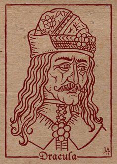 Vlad Tepes Silkscreen Postcard 4x6 by JesseAcosta.deviantart.com on @DeviantArt
