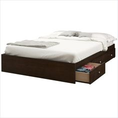 $298.67 Pocono Full Storage Bed in Espresso