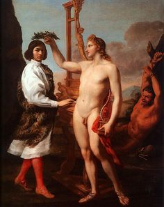 #Andrea #Sacchi - Marcantonio Pasquilini Crowned by #Apollo. From Wikimedia Commons, the free media repository.