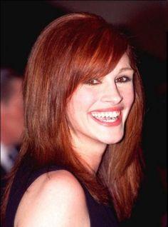 Julia Roberts Red Hair Smiling Face Look Still Celebrity Hairstyles, Cool Hairstyles, Julia Roberts Hair, Fiery Redhead, Gorgeous Redhead, Gorgeous Women, Amazing Women, Auburn Hair, Fall Hair