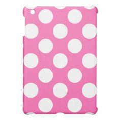 Hot Pink Polka Dots iPad Mini Cases