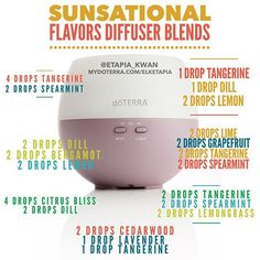 Diffuser blends with the Summer Sunsational Flavors. Only available for a…
