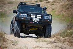 Nissan Patrol 4x4 Jeep Truck, 4x4 Trucks, Monster Car, Monster Trucks, Off Road Truck Accessories, Best 4x4 Cars, Nissan Patrol Y61, Patrol Gr, Nissan Trucks