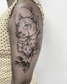 Tattoo Mama, Cubs Tattoo, Mommy Tattoos, Mother Tattoos, Leo Tattoos, Baby Tattoos, Badass Tattoos, Mini Tattoos, Body Art Tattoos