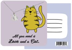 Esme Funny Puns Birthday Cards, Necklace Gifts for Cat Lovers