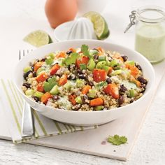 Bol de quinoa, haricots noirs et patates douces - Recettes - Cuisine et nutrition - Pratico Pratique