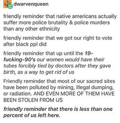 I'm not Native American but that doesn't mean this shouldn't be shared>>> I'm partially Native American (barely enough to count) and this still should be everywhere