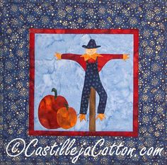 Scarecrow Quilted Wall Hanging  on sale by castillejacotton, $15.00