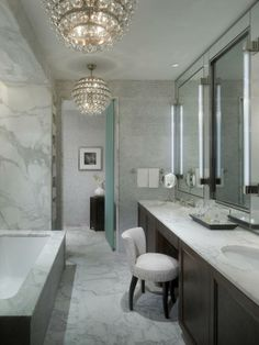 bathrooms- love the lights,also love photo 6 w bathtub view of waterfall  outside