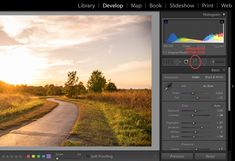 How to use graduated filter lightroom