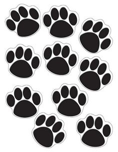 Teacher Created Resources Accents, Black Paw Print Use this decorative artwork to dress up classroom walls and doors, label bins and desks, or accent bulletin boards. You can use the pieces for learning games like sorting, patterning and graphing.