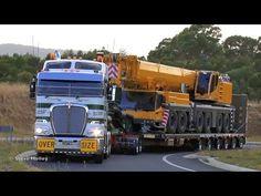 Trucks, Trains, and Cranes : SMC Heavy Haulage Moving T Class Loco - YouTube