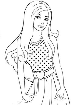 Free Kids Coloring Pages, Barbie Coloring Pages, Disney Princess Coloring Pages, Disney Princess Colors, Animal Coloring Pages, Colouring Pages, Coloring Books, Barbie Drawing, Human Drawing