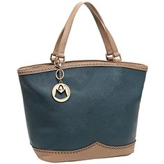 MG Collection RENATA Blue  Brown Oversized Shopper Tote Style Shoulder Handbag *** Check out this great product.