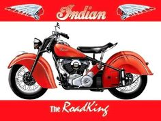 Collectable Vintage Metal Wall Sign Indian Roadking Classic Bike Advert 10903