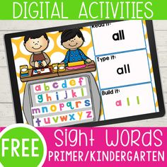 Digital Pre-Primer/Pre-K Sight Word Activities Preschool Sight Words, Learning Sight Words, Sight Word Activities, Literacy Activities, Interactive Activities, Language Activities, Indoor Activities, Hands On Activities, Summer Activities