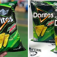 Doritos and Mountain Dew has joined forces to create a chip like no other. The limited-edition Doritos Mountain Dew chips have a citrus flavor and are available in Australia. All We Know, All Friends, Mountain Dew, Doritos, New Recipes, Chips, Australia, Snacks, Potato Chip
