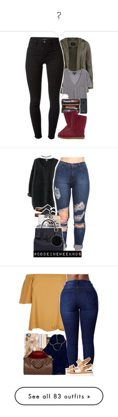 """"""""""" by l-o-v-e-y-o-u143431 ❤ liked on Polyvore featuring Dorothy Perkins, MANGO, Louis Vuitton, UGG Australia, J Brand, Birkenstock, Essie, Luv Aj, Casetify and Versace"""