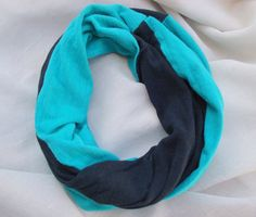 Teal & Black Children's Infinity Scarf, Baby Hipster Scarf, Drool Bib, Teal and Black Toddler Infinity Scarf, Hipster Toddler Scarf