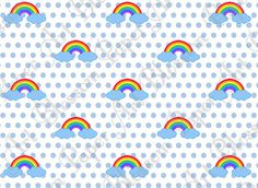 Rainbow Digital Paper  Scrapbook  DIY Projects  by blossompaperart, $1.30