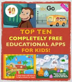 Top 10 Completely Free Educational Apps For Kids! — Nov. 18, 2013 http://www.theworldaccordingtoe.com/smartappsforkids/2013/11/top-10-current-best-selling-totally-free-educational-apps-no-in-app-purchases-limited-time.html