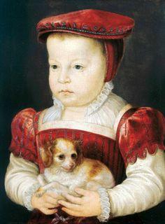 Hercule-François Duc d'Alencon, Anjou et Brabant (Son of Henri II & Catherine d'Medici) by Francois Clouet (1510-1572)