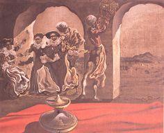 Invisible Bust of Voltaire via Salvador Dali Medium: oil, canvas