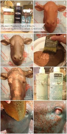 Metal Effects by Modern Masters Faux Painting, Painting Tips, Patina Paint, Patina Metal, Decoupage, Modern Masters, Paint Effects, Paint Finishes, Metallic Paint