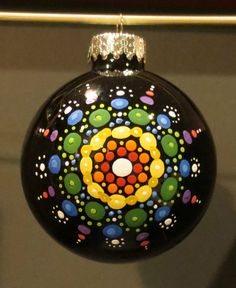 Hand Painted Ornament Holiday Christmas by RileyMicaDesigns