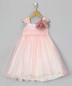 7d54ee932cb Πανέμορφο Παιδικό Φόρεμα σε Ροζ και Κρεμ για βάφτιση, Παρανυφάκι, Πάρτι