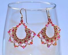 Right angle weave seed bead earrings   Jessica Blackwell   Flickr