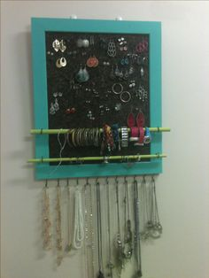 Hand made jewelry ( earring, bracelet, ring, and necklace) organizer #dorm