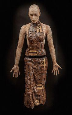 "Marek Zyga, ""Holding Back the Years,"" Ceramic Sculpture, ca. 2013."