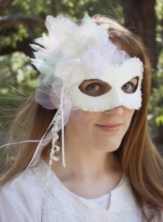GORGEOUS one-of-a-kind masquerade ball mask.  Maybe we watched Labyrinth too often as children...  ~Artisan Maskers
