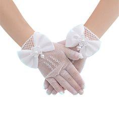 Deceny CB Princess Gloves for Girls Fancy Costume Gloves for Flower Girls Wedding
