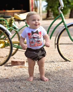 Baby Bike Route T-shirt and Diaper Cover Set 3M by PinkMouseKids