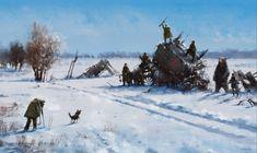 quibbll.com - Художник Якуб Розальский (Jakub Rozalski): «1920 - мех на поле»